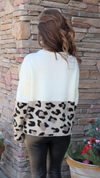 Wild Occasion Sweater Off White Leopard