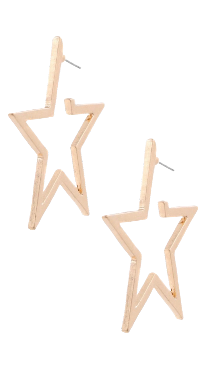Perfect Star Earrings Worn Gold