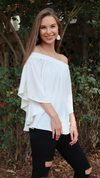 Heavenly Shoulder Top White