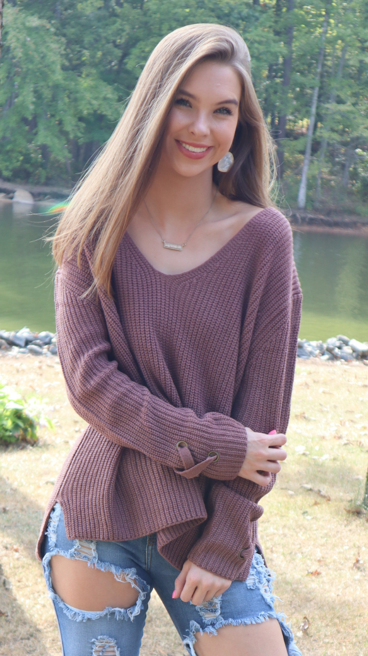 Keep Me Warm Sweater Mauve