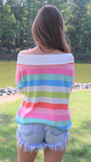 Here For The Stripes Top Multi Color