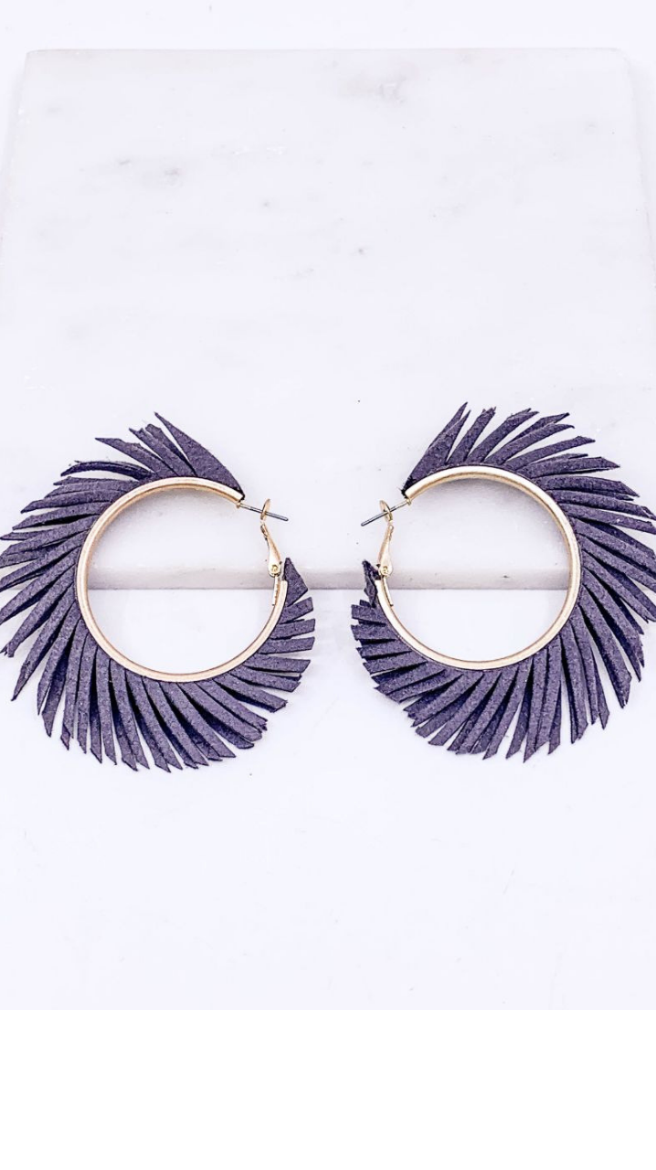 Fringe Into The Summer Earrings Grey