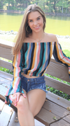 Favorite Kinda Stripe Top Multi Color