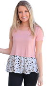 Just Say Yes Top Dusty Pink