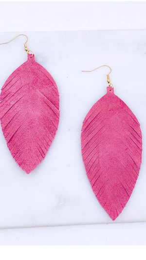 Feather of Hope Earring Dust Pink