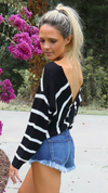 Night Love Twist Sweater Black/White