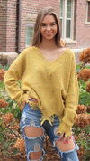 Fall Fun Confetti Sweater Mustard