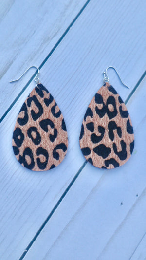 Wild About You Earrings Leopard
