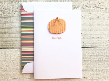 Thankful - Pumpkin Card