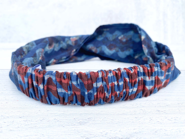 Hand Block Printed Cotton Headbands