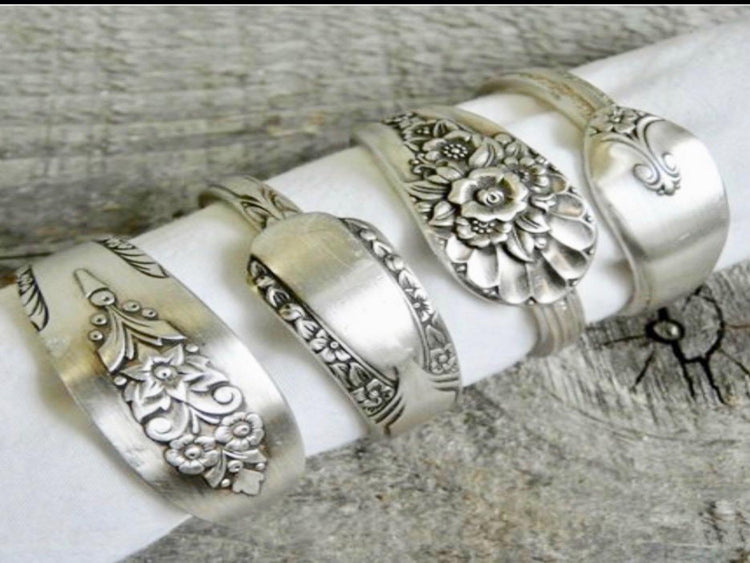 Silver Plated Vintage Napkin Rings