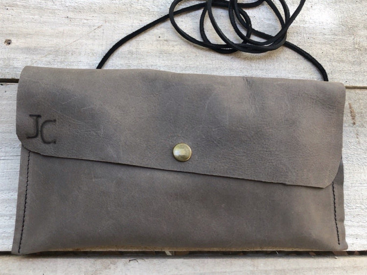 Gray Clutch Shoulder Bag