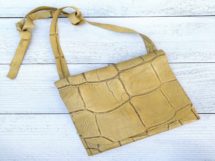 Golden Leather Bag