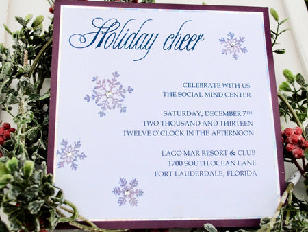 Holiday / Snowflake Invitation