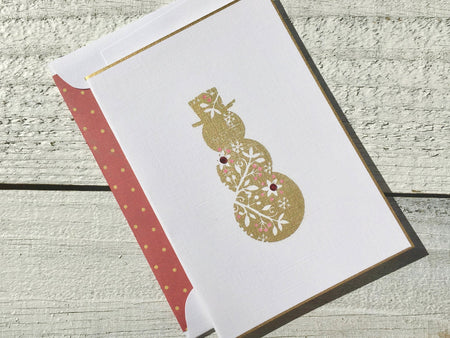 Snowman Card - Snowman Note Card - Snowman Stationery - Christmas Card - Holiday Card - Thank You Card -Holiday Note Card-Holiday Stationery