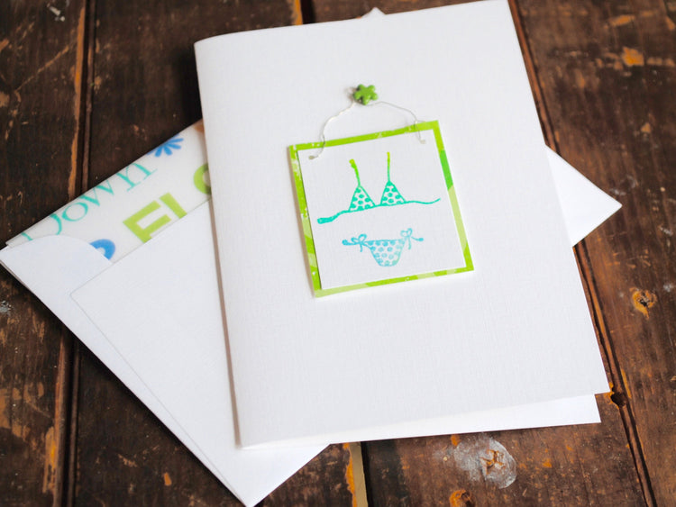 Decorative Bikini Folded Notecards