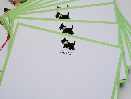 Personalized Note Cards, Scottie Note Cards, Personalized Stationery, Thank You Cards, Thank You Note Cards, , Set of 8