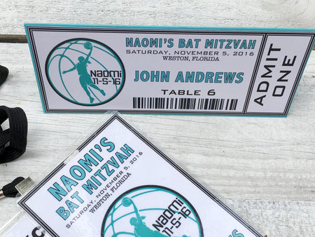 Basketball Seating Cards