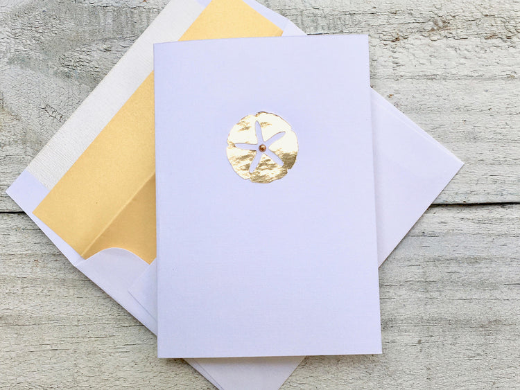 Sand Dollar Note Cards - Sand Dollar Cards - Sand Dollar Stationery - Sea Shell Cards -  Sea Shell Note Cards - Sea Shell Stationery