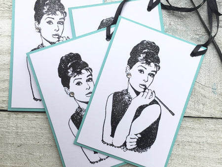 Audrey Hepburn Gift Tags
