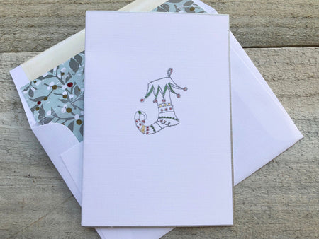 Stocking Note Card - Stocking Card - Stocking Stationery - Holiday Cards - Holiday Note Cards - Christmas Cards - Christmas Note Cards