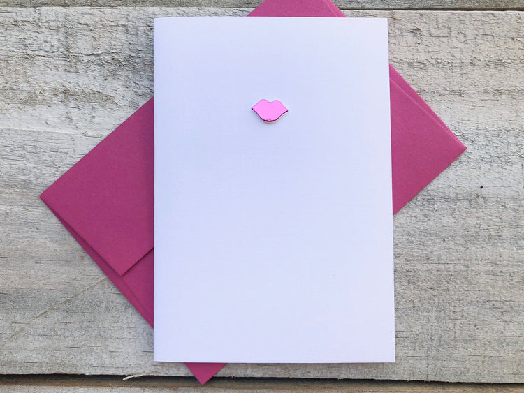 Hot Pink Kiss Cards - Hot Pink Kiss Stationery - Kiss Note Cards - Kiss Stationery - Kiss Cards - Lipstick Note Cards - Love Note Cards