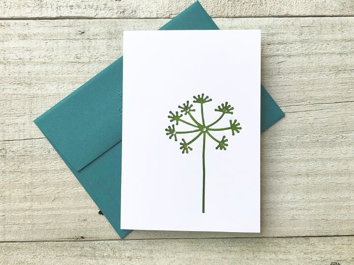 Wish Note Card - Dandelion Card - Wish Stationery - Dandelion Stationery -Blank Note Cards - Thank you Cards -  Greeting Cards-Gifts for Her