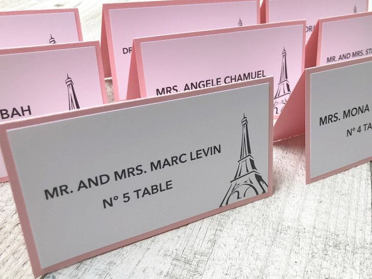 Eiffel Tower Place Cards