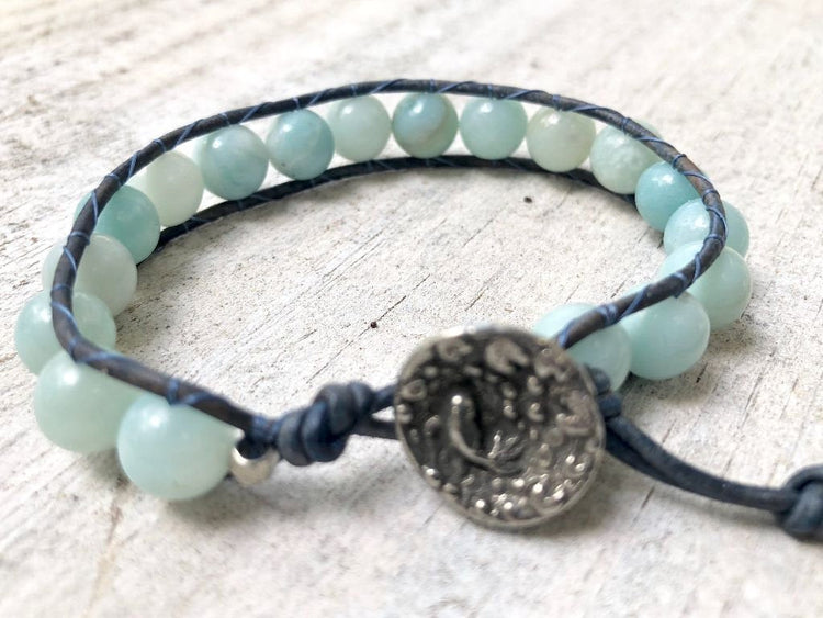 Amazonite Wrap Bracelet (Mermaid's Treasure)