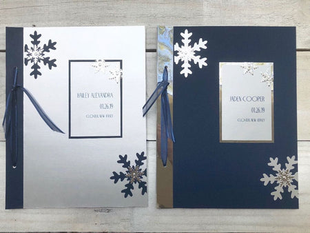 Snowflake Signature Book - Snowflake Sign in Book - Snowflake Guestbook -Winter Wonderland Sign in Book - Winter Wonderland Guest Book