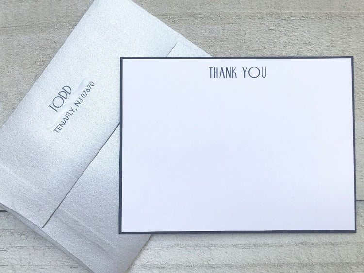 Thank You Stationery - Thank You Cards - Flat Note Cards - Hostess Gift - Women's Gift