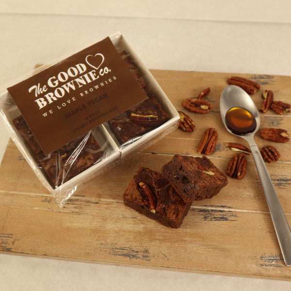 Maple Pecan Brownie Bags (4 Bites)