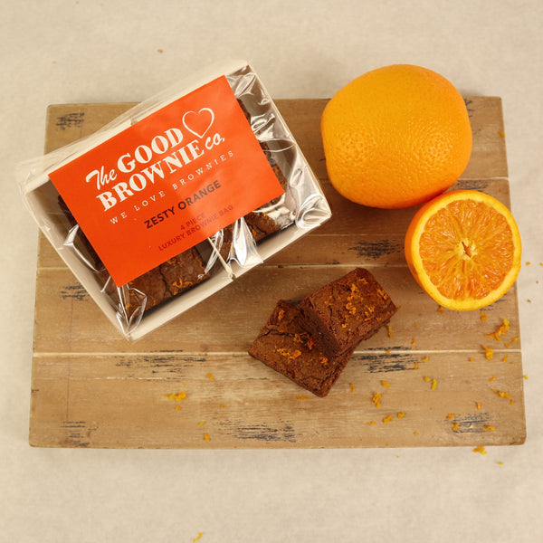 Zesty Orange Brownie Bags (4 Bites)