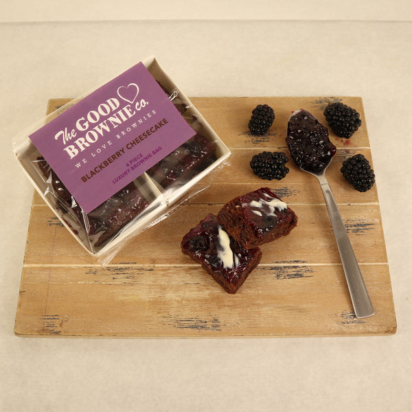Blackberry Cheesecake Brownie Bags (4 Bites)