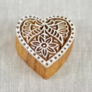 The Wild Hearts wooden handmade printing stamp for playdough træ håndlavet trykstempel til modellervoks