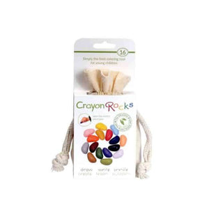 Crayon Rocks Crayons 16 pcs. in a Muslin Bag