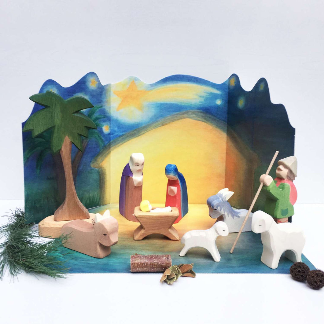 Nativity Set with Diorama 11 pcs