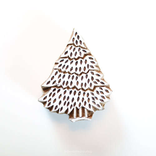 CHRISTMAS TREE handmade wooden stamp