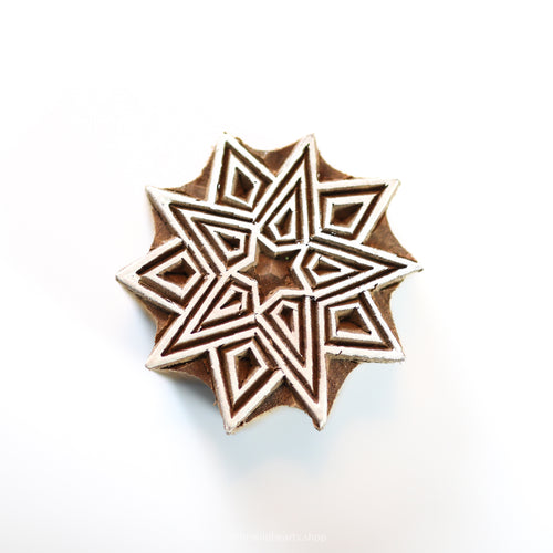 10-point STAR handmade wooden stamp