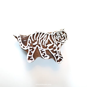TIGER handmade wooden stamp