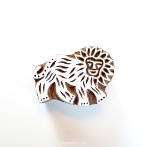 LION handmade wooden stamp