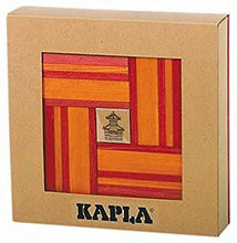 KAPLA wooden building planks 40 pcs. in red and orange
