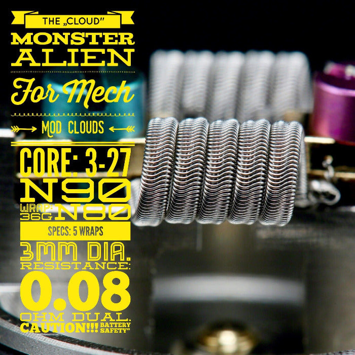 """The Cloud"" Monster Alien (2 Stück) by Tasty Ohm Coils"