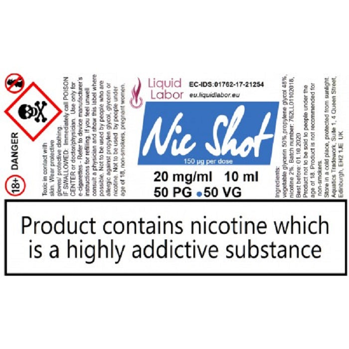 Nic-Shot 20 mg 50PG 50VG 1x10ml