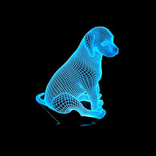 Load image into Gallery viewer, LED 3D Puppy Dog Lamp