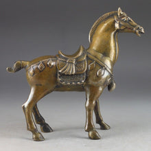 Load image into Gallery viewer, Rare Bronze Handcrafted Horse Statue