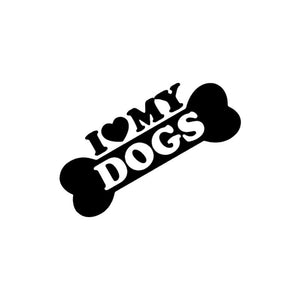 "Auto Decal ""I Love My Dogs"""