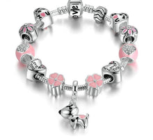 Load image into Gallery viewer, Adorable I Love U Dog Charm Bracelet