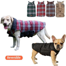 Load image into Gallery viewer, Cozy Windproof Reversible Style Plaid Dog Jacket