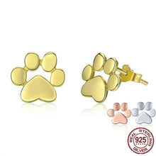 Load image into Gallery viewer, Sterling Silver Fashion Paw Earrings